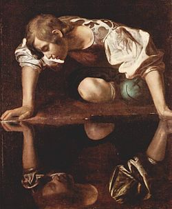 Narcissus by Michelangelo Carvaggio